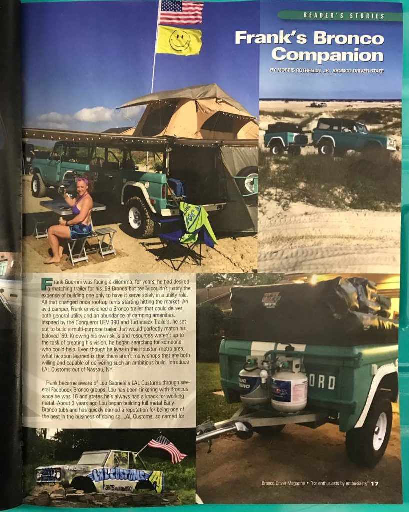 LAL Customs Featured in Bronco Driver Magazine