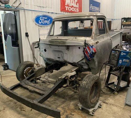 Ole-Blue-1953-FordF100-Crown-Vic-Front-End-Swap-LALCustoms-1