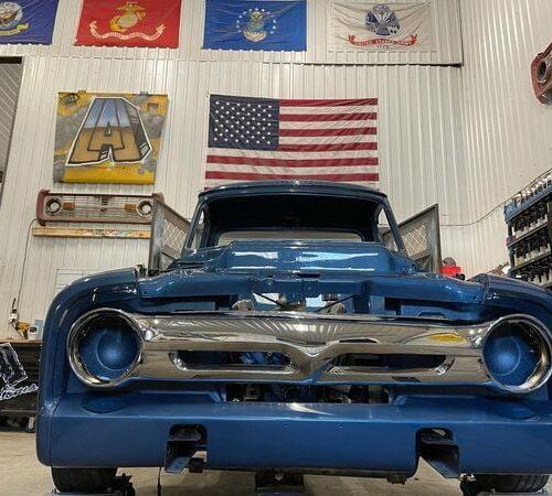 Ole-Blue-1953-FordF100-Crown-Vic-Front-End-Swap-LALCustoms-24